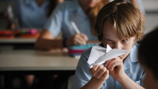 Folding future: Ed Oxenbould as Dylan, an 11 yo. who discovers he has a knack with folding stuff in Paper Planes.