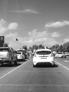 Intersection of William Nicol and motorway in Fourways