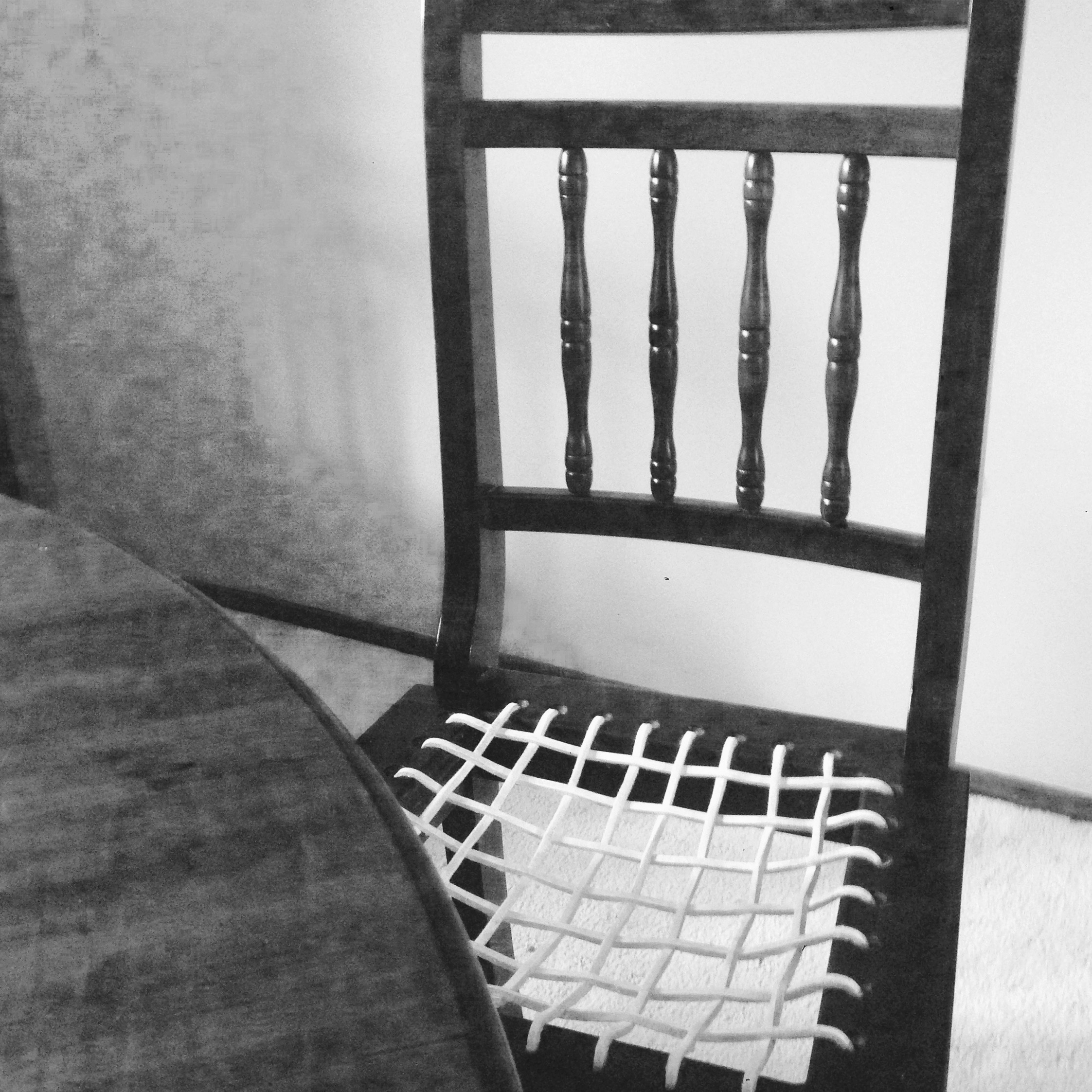 Black and white chair photography - South African Riempie Chair