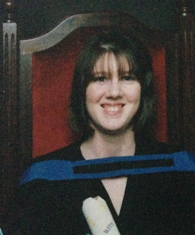 At my graduation May 1996, a month after I lost my mother.