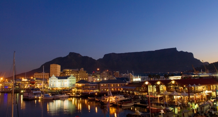 Cape Town And Table Mountain In The Evening